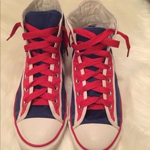 Red, White, & Blue High Top Converse   EUC